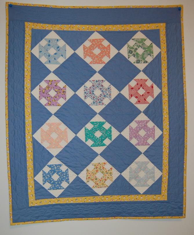 Blue little quilt