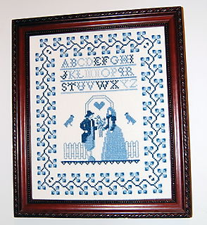 Blue Crossstitch