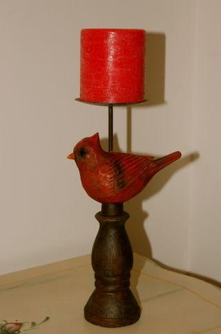 Redbird candle