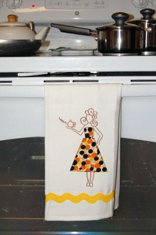 Orange towel