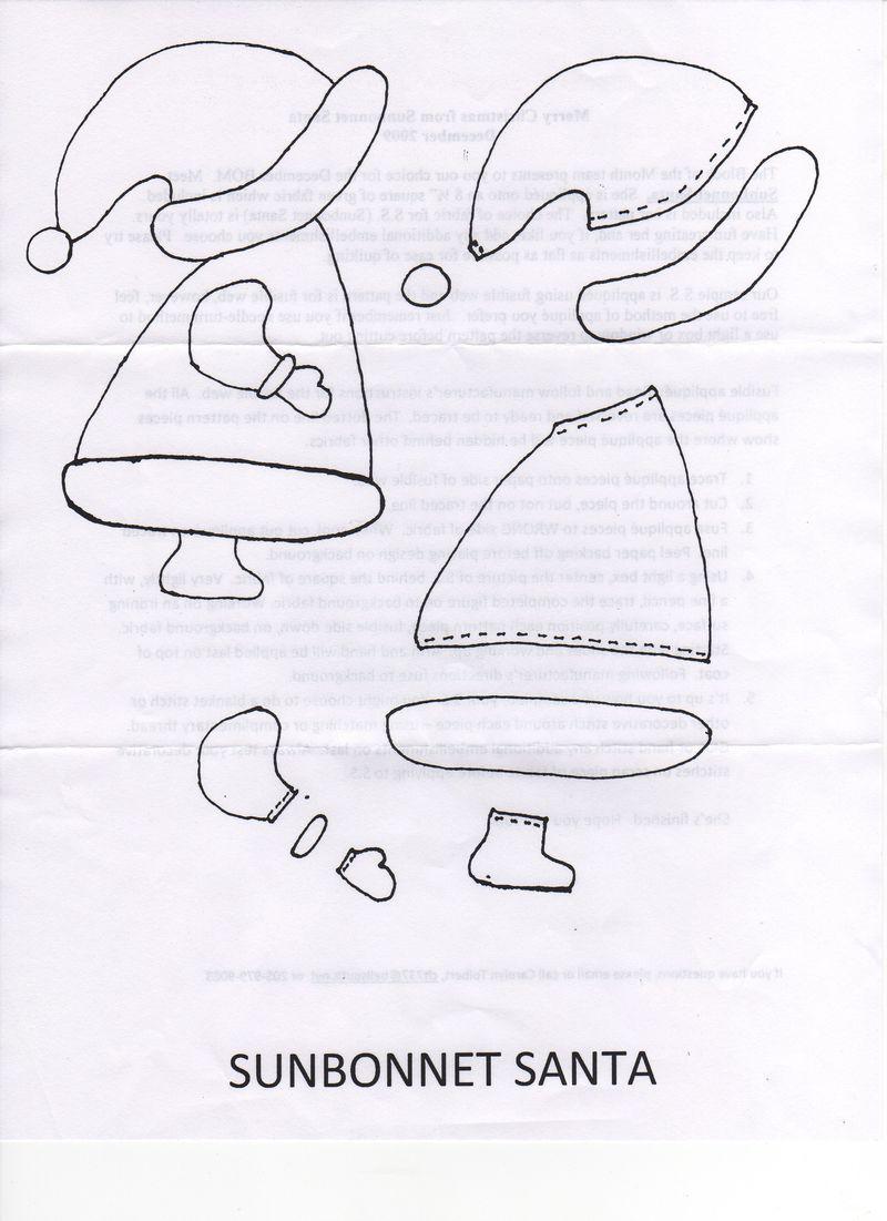 Sunbonnet Santa 2