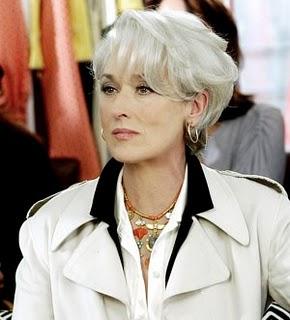 Mery streep with gray hair