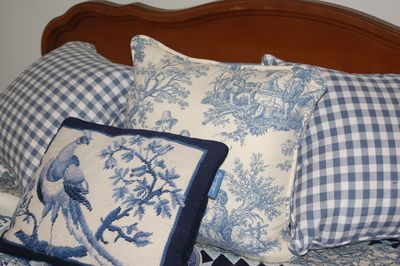 Pillow blue