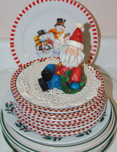 Santa on Plates