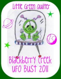 Little Green Man Quilter Logo