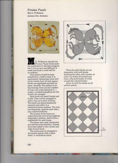 Horse quilt pattern017