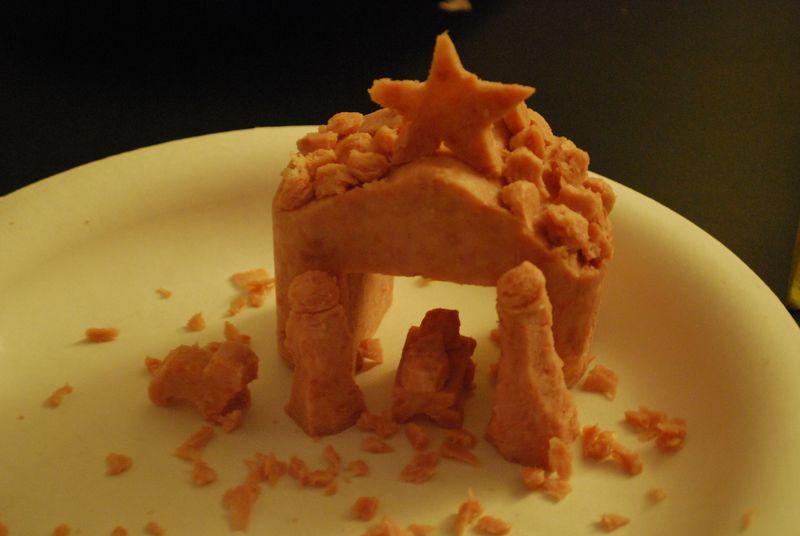 Spam-carved-nativity