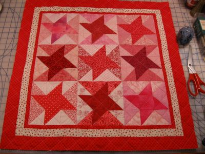 Valentine Friendship Star - quilted