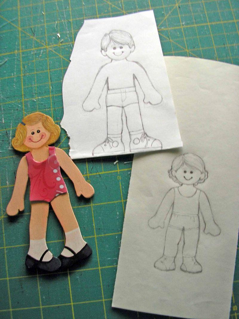Kid paper dolls