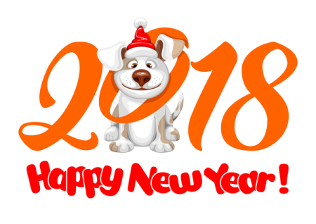 2018-happy-year-of-dog-vector-material-01