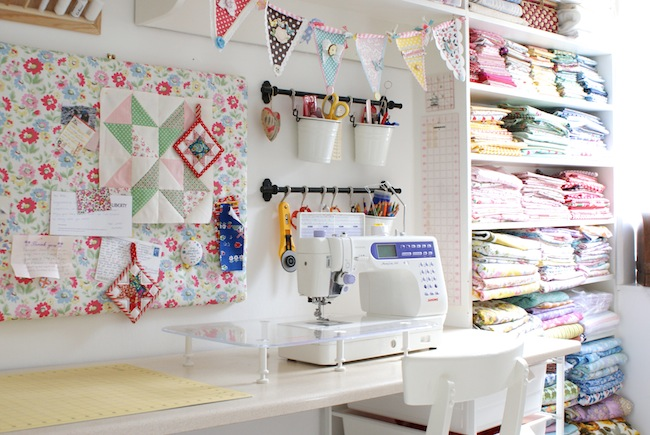 Messy jesse craft sewing room 1