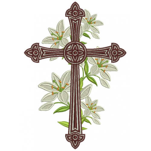 Decorative-Cross-With-Flowers-Religious-Filled-Machine-Embroidery-Design-Digitized-Pattern-700x700